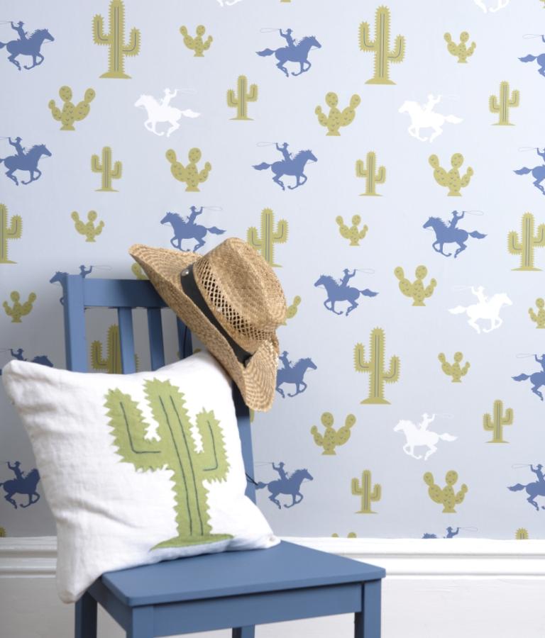 Hibou Home_Cactus Cowboy wallpaper_HH00301_lifestyle