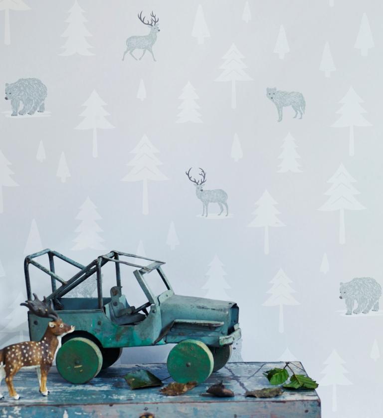 Hibou Home_Into The Wild wallpaper_HH00601_Stone_Arctic White_lifestyle