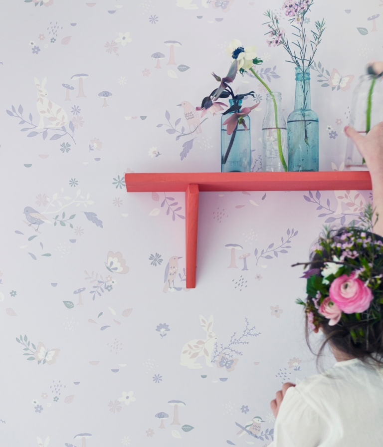 Hibou Home_Secret Garden wallpaper_HH00701_Blush Pink_lifestyle