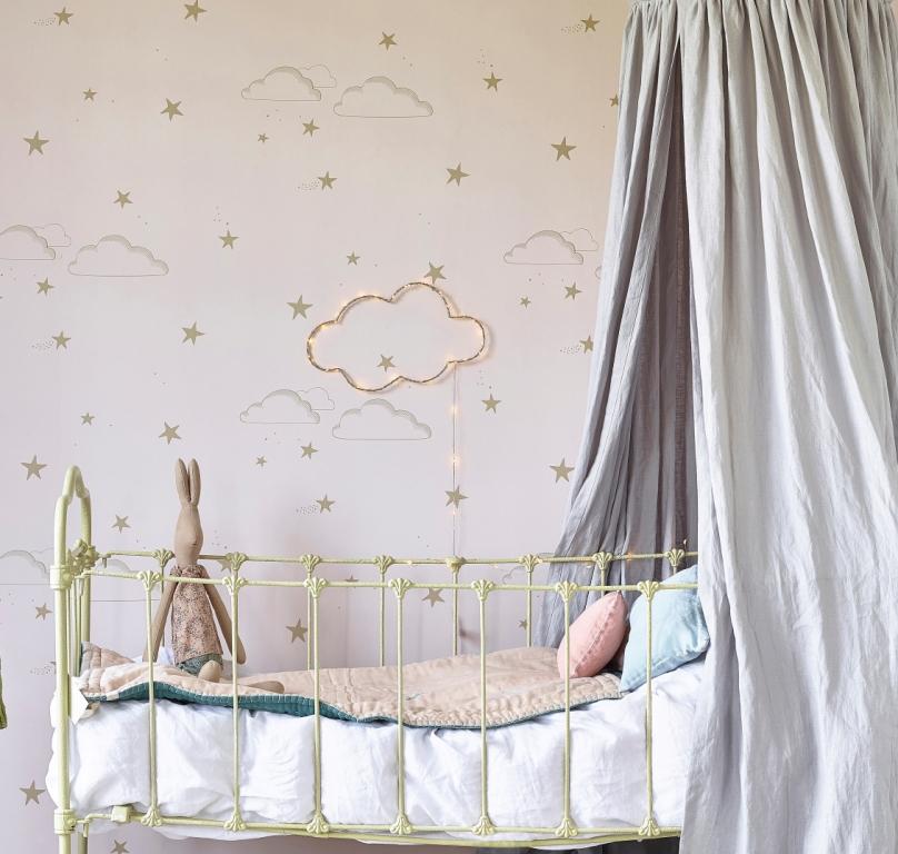 Hibou_Home_Starry Sky wallpaper_Pale Rose_HH01201_b