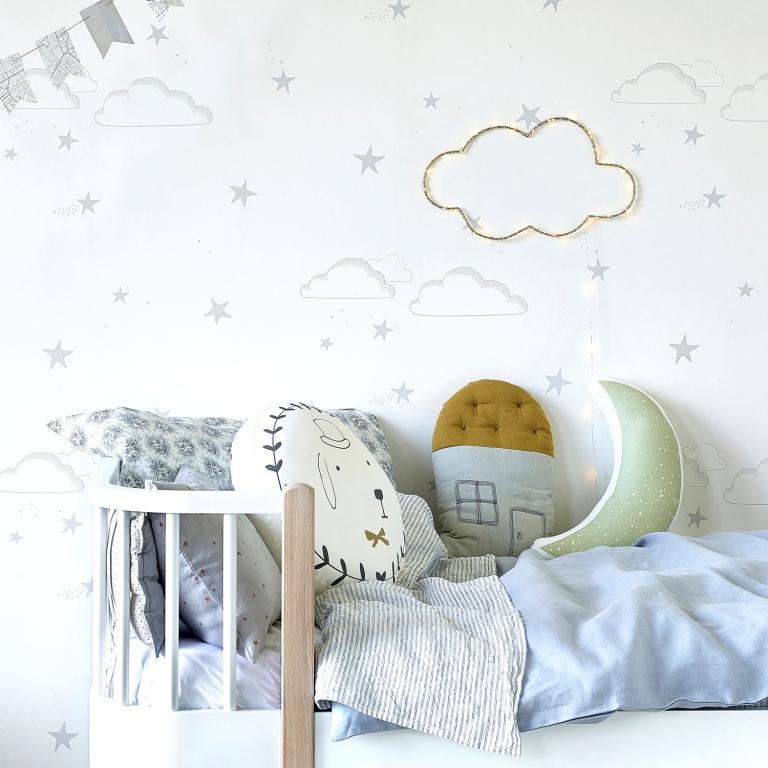 Hibou_Home_Starry Sky wallpaper_Silver_HH01202_a