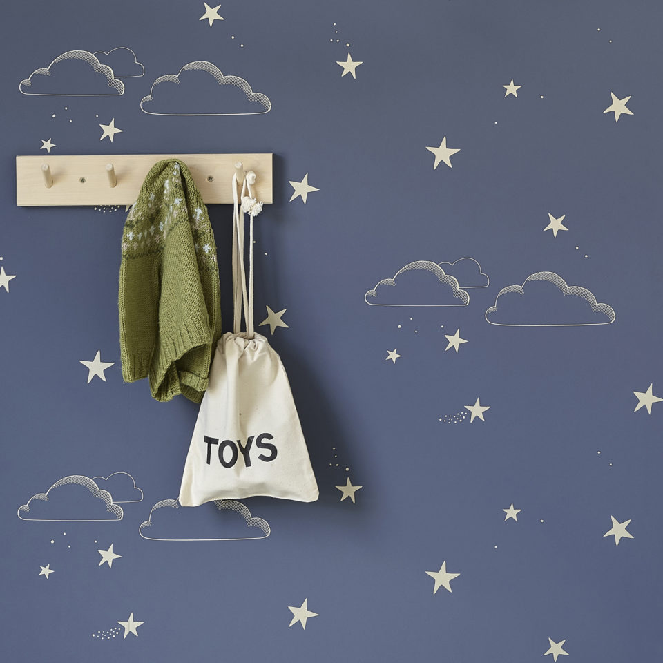 Hibou Home_Stary Sky wallpaper_HH01203_Indigo & Gold_lifestyle image 2